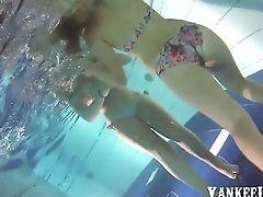 Bunda, Beleza, Biquini, Piscina , Nadando, Subaquático ,