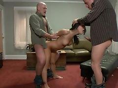 Anal Sex, Asa Akira, BDSM, Bondage, Brunette, Butt Plug, Ethnic, Extreme, Fmm, Group Sex,