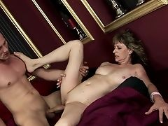 Blowjob, Brunette, Gorgeous, Granny, Mature, Old And Young,