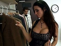 Ariella Ferrera, Big Tits, Brunette, Clothed Sex, Deepthroat, Dress, From Behind, Hardcore, Latina, MILF,