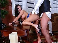 Ass Licking, Big Tits, Blowjob, Boss, Cuckold, Cumshot, Facial, Handjob, Hardcore, High Heels,