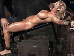 BDSM, Big Cock, Big Tits, Blonde, Cage, Fetish, Submissive, Torture,