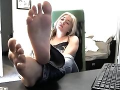Blonde, Foot Fetish, Homemade, Horny, Teen, Webcam,