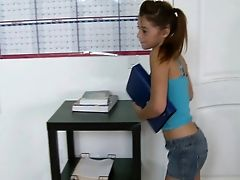 Blowjob, Classroom, Clothed Sex, College, Desk, From Behind, Gigi Rivera, Ginger, Hardcore, Oral Sex,