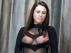 BBW, Bdsm, Zaad, Domination, Aftrek Instructies, Lingerie, Nylon, Oogpunt, Solo,