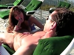 Beauty, Blowjob, Brunette, Cute, Horny, Outdoor, Peter North, Sexy, Slut,