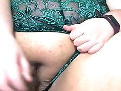 18, Amateur, BBW, Chubby, Clit, Dildo, Fat, Female Orgasm, Fucking, Lingerie,