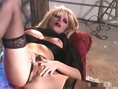 Blonde, Classic, Femdom, Fetish, Foot Fetish, Lesbian, MILF, Mistress, Retro, Stockings,