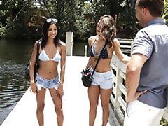 Bikini, Boat, Boobless, Brunette, FFM, Hardcore, Latina, Natural Tits, Outdoor, Reality,