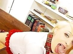 Blonde, Blowjob, Boobless, Close Up, Doggystyle, From Behind, HD, Petite, Pussy, Schoolgirl,
