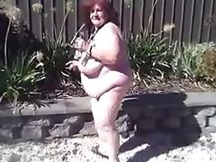 Amateur, BBW, Cute, Granny, Mature, Outdoor, Pissing,
