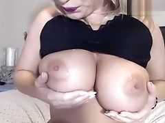 Big Tits, Blonde, Dildo, Rubber, Sex Toys, Webcam,