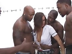 Big Cock, Blowjob, Brunette, Group Sex, Interracial,