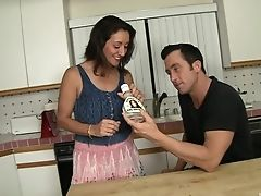 Couple, Kitchen, MILF, Persia Monir, Pornstar, Rimming,