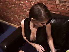 Beauty, Big Natural Tits, Big Tits, British, Brunette, Cute, Flashing, HD, Softcore, Solo,