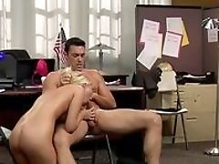 Babe, Blonde, Blowjob, Dick, HD, Moaning, Office, Riding, Vanessa Cage,