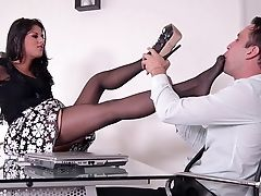Ass, Brunette, Cum, Cumshot, Doggystyle, Feet, Fetish, Foot Fetish, Hardcore, High Heels,