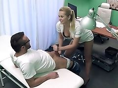 Babe, Blonde, Desk, Hospital, Nurse, Oral Sex, White, Young,