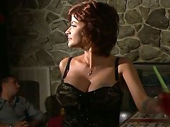 Bar, Beauty, Big Cock, Black, Blowjob, Dress, Homemade, Joslyn James, MILF, Redhead,