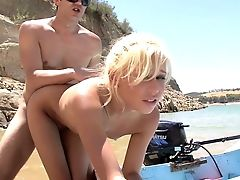 Beach, Blonde, Cumshot, Facial, From Behind, Kacey Jordan, Nature, Teen,