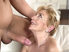 Dick, Fat, Granny, Horny, Mature, Pussy, Wet,