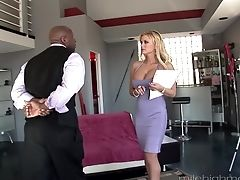 Big Black Cock, Big Cock, Blonde, Blowjob, Couple, Cumshot, Facial, Hardcore, High Heels, Humiliation,