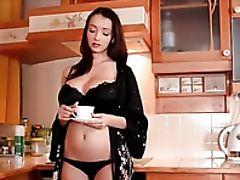Babe, Big Tits, Food, Lingerie, Striptease,