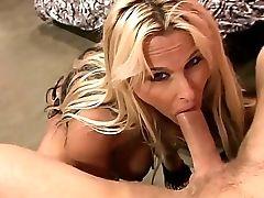 Bedroom, Big Tits, Blonde, Blowjob, Cum On Tits, Cumshot, Dick, Fake Tits, Hardcore, HD,