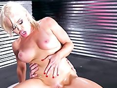 Anal Sex, Ass, Blonde, Blowjob, Bold, Boots, Close Up, Clothed Sex, Couple, Cowgirl,
