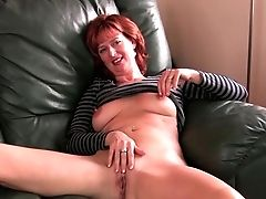 Bobcat, British, Cougar, Ginger, Masturbation, Mature, MILF, Mom, Nipples, Old,