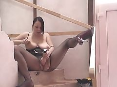 Big Natural Tits, Dildo, Jerking, Pantyhose, Vibrator,