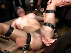 BDSM, Bondage, Brunette, Hardcore, Public, Rough, White,