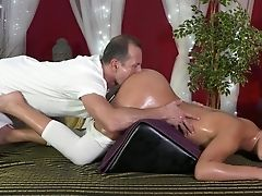 Anna Rose, Ass, Blowjob, Brunette, Massage, Natural Tits, Oiled, Riding, White, Young,