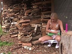 Babe, Blonde, Boobless, Fingering, HD, Masturbation, Moaning, Outdoor, Ponytail, Pussy,
