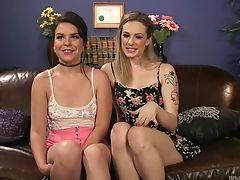 BDSM, Fetish, Girlfriend, Juliette March, Strapon, Submissive, Threesome,