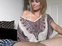 Blonde, Handjob, MILF, Old And Young, Stepmom,