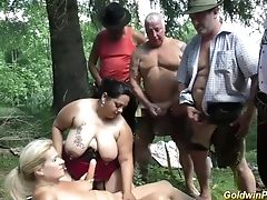 Babe, BBW, Chubby, Forest, German, Group Sex, Hardcore, MILF, Orgy, Outdoor,
