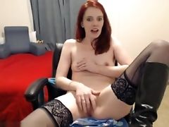 Babe, Black, European, Ginger, Horny, Masturbation, Nerd, Stockings, Webcam,