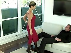 Blowjob, Clothed Sex, Couch, Daria Glower, Dick, Dress, European, Felching, Fucking, Hardcore,