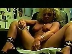 Blonde, Jerking, Masturbation, MILF, Office, Sex Toys, Solo,