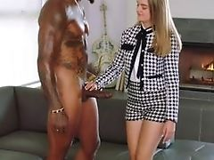 Big Black Cock, Black, Blonde, Blowjob, Doggystyle, Facial, Interracial,