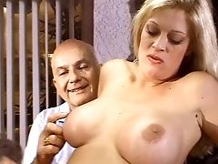 Big Tits, Blonde, Couple, Cuckold, Curvy, Experienced, Fake Tits, Hunk, Licking, MILF,