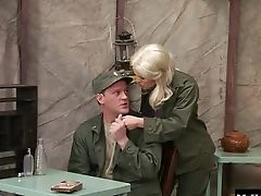Army, Blonde, Couple, Hardcore, MILF, Rough, Uniform,