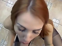 Ass, Blowjob, Brunette, Couple, Creampie,