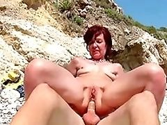 Anal Sex, Beach, Blowjob, Boobless, Close Up, Condom, Doggystyle, Facial, Fucking, HD,