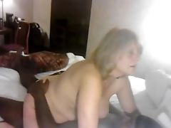 Aunt, Big Black Cock, Big Cock, Blonde, Chubby, Couple, Interracial, Mature,
