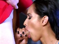 Blowjob, Brunette, Couch, Deepthroat, HD, Isis Love, Moaning, Oiled, Pornstar, Riding,