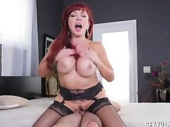Babe, Big Tits, Blonde, Blowjob, Bra, Couple, Cowgirl, Dick, Fake Tits, Hardcore,