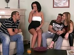 Alexis Crystal, Amateur, Ass, Brunette, Choking Sex, European, Ffmm, Foursome, Group Sex, Linet Slag,